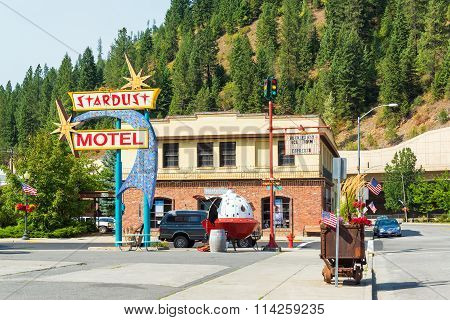 Old Motel In Wallace, Idaho