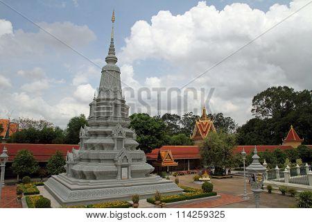 Silver Pagoda in Phnom Penh Cambodia