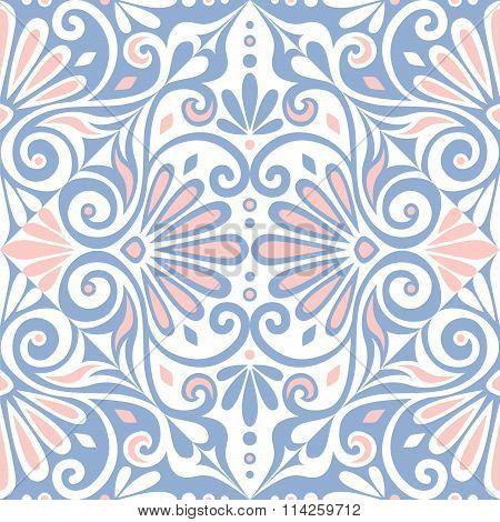 vector seamless Greek floral ornament, Meander
