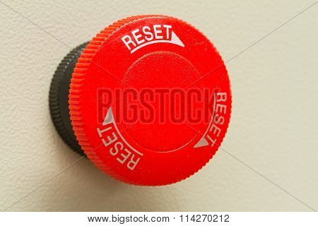 Red Emergency Stop And Reset