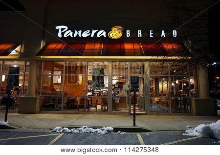 Panera Bread Restaurant on New Year's Eve