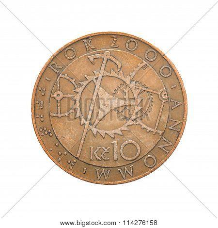 Ten Czech Crowns coin