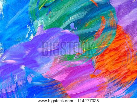 bold paint stroke abstract