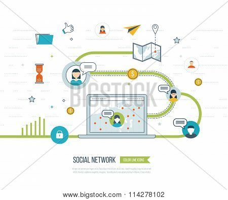 Social network and teamwork concept. Investment management.