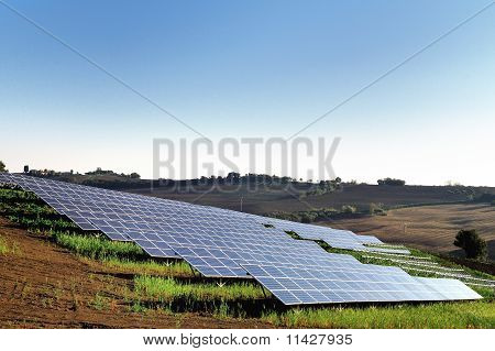 Photovoltaic station in countryside