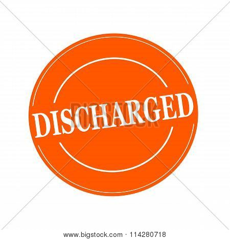 Discharged White Stamp Text On Circle On Orage Background