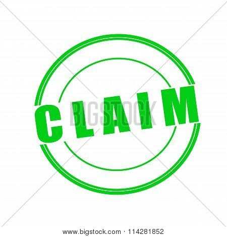 Claim Green Stamp Text On Circle On White Background