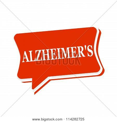 Alzheimer's Multicolored Text On Red Speech Bubbles