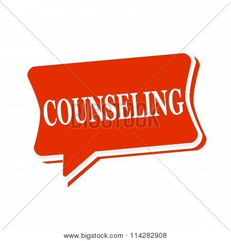 Counseling Multicolored Text On Red Speech Bubbles