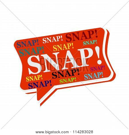 Snap Multicolored Word On Red Speech Bubbles
