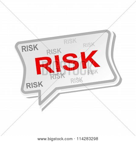 Risk Multicolored Word On Gray Speech Bubbles
