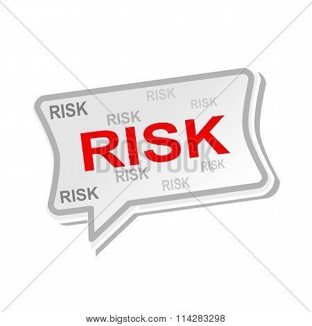 Risk Multicolored Word On Gray Speech Bubbles