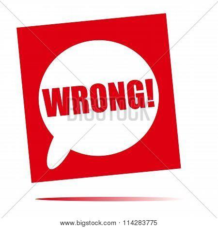 Wrong Speech Bubble Icon