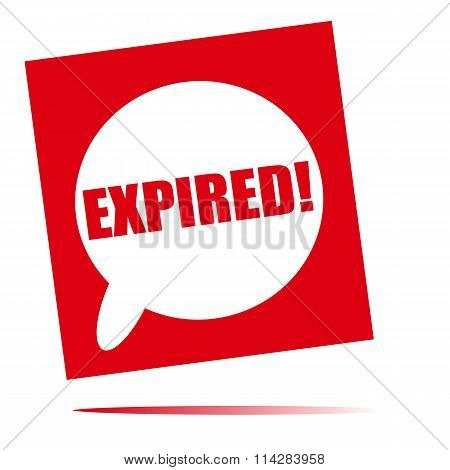 Expired Speech Bubble Icon
