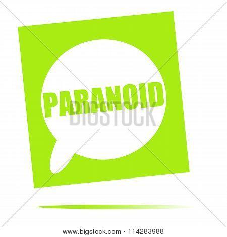 Paranoid Speech Bubble Icon