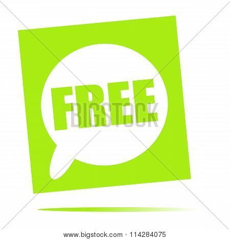 Free Speech Bubble Icon