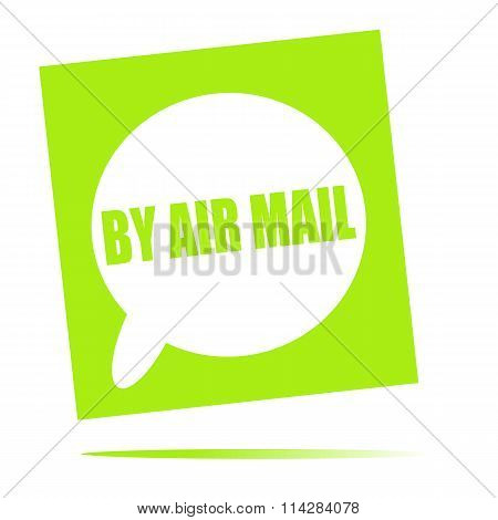 By Air Mail Speech Bubble Icon