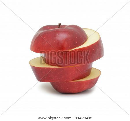 Sliced Ripe Red Apple