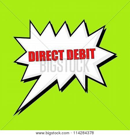 Direct Debit Wording Speech Bubble