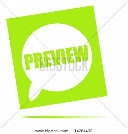 Preview Speech Bubble Icon