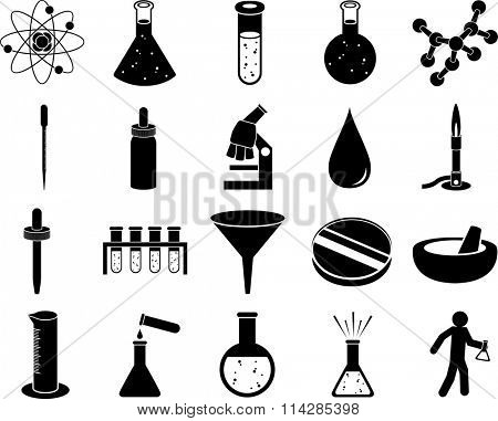 science symbols set