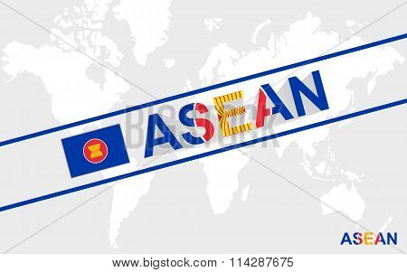 Asean Flag And Text Illustration