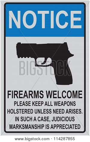 Welcome Reminder For Owners Of Firearms