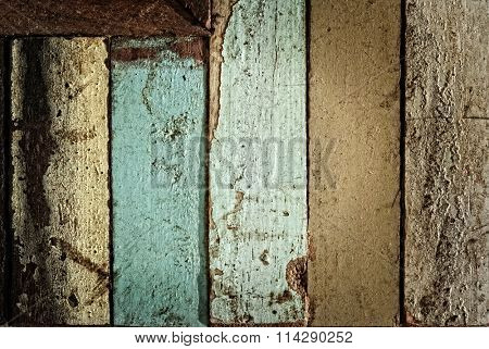 TIMEWORN PLANKS OF WOOD BACKGROUND