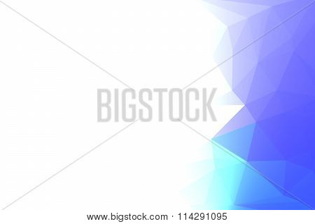 Blue And Purple Polygon With White Gradient For Background Design.
