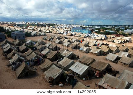 Refugee camp in Mogadishu