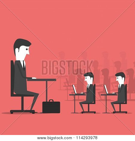 Managing sitting in the office with employees