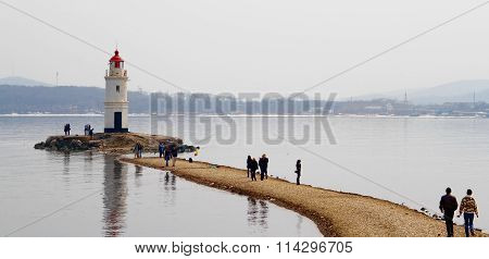Tokarevsky lighthouse, Vladivostok, Russia