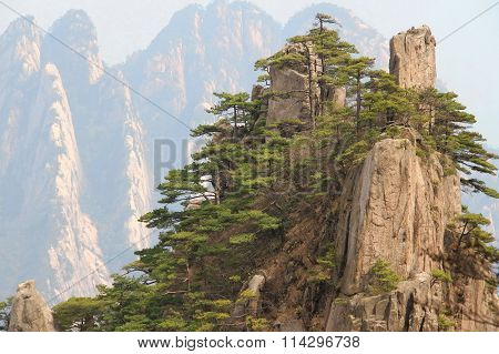 Huangshan mountain peaks, China