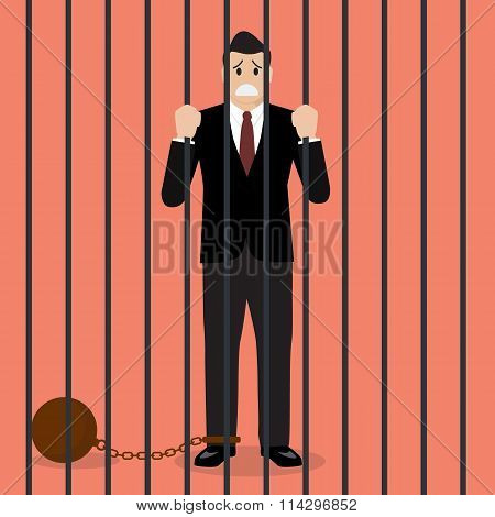 Businessman With Weight In Prison