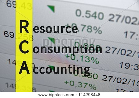 Resource consumption accounting