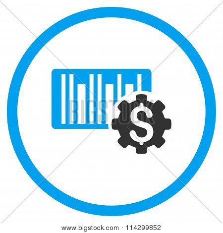Barcode Price Setup Flat Icon