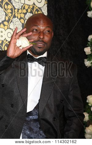 LOS ANGELES - JAN 10:  Jimmy Jean-Louis at the HBO Golden Globes After Party 2016 at the Beverly Hilton on January 10, 2016 in Beverly Hills, CA