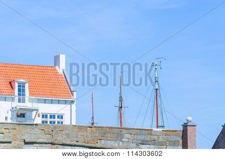 Small House At A Harbor