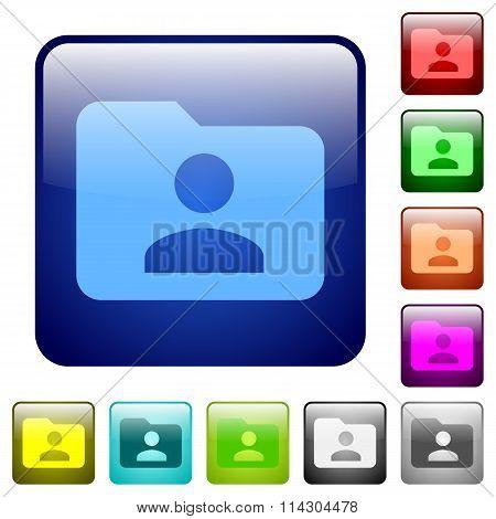 Color Folder Owner Square Buttons