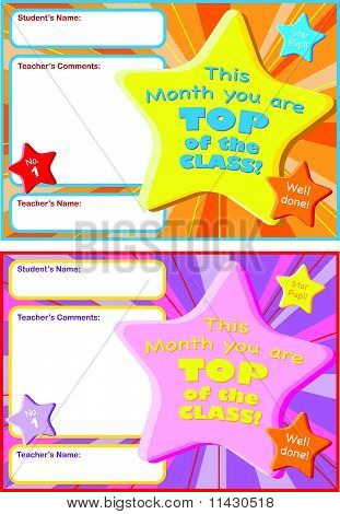 Children's Reward Certificate