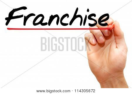 Hand writing Franchise