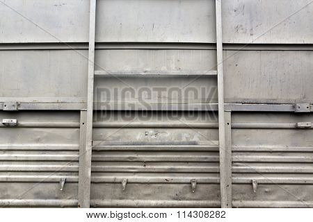 Gray Metal Truck Board.