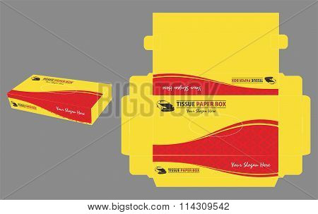 Yellow and Red Tissue Paper Box