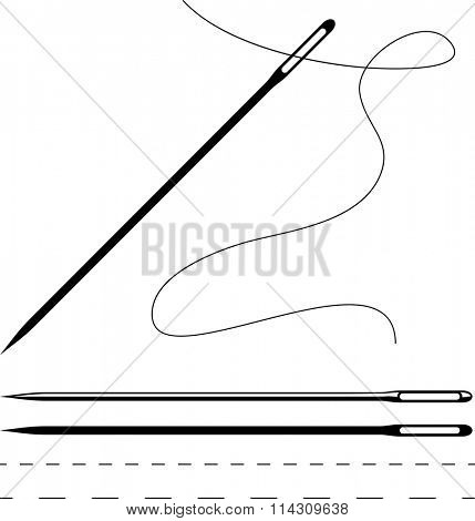 Sewing Needle Symbol Vector Illustration