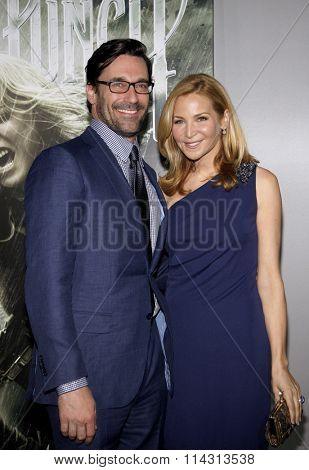 Jon Hamm and Jennifer Westfeldt at the Los Angeles Premiere of