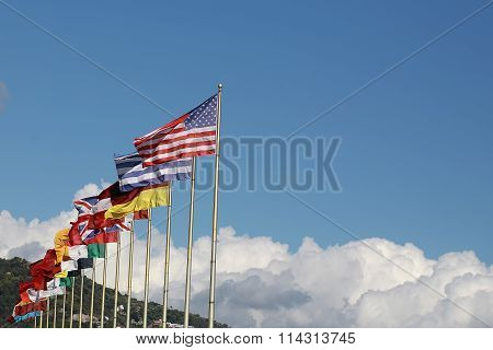 Flagstaffs With National Flags