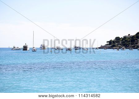 Yachts Sailing And Boats In Harbor