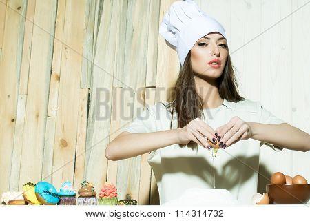 Cook Making Sweet Desserts