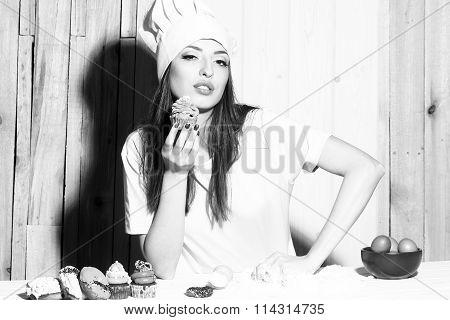 Woman Making Desserts
