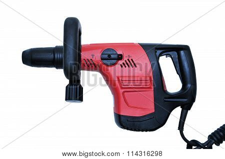 Professional Rotary Hammer On White